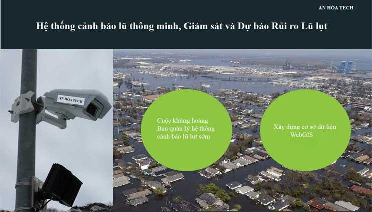 Hệ thống cảnh báo lũ sớm cảm biến sạt lỡ đất thông minh giám sát và dự báo rủi ro lũ lụt sớm
