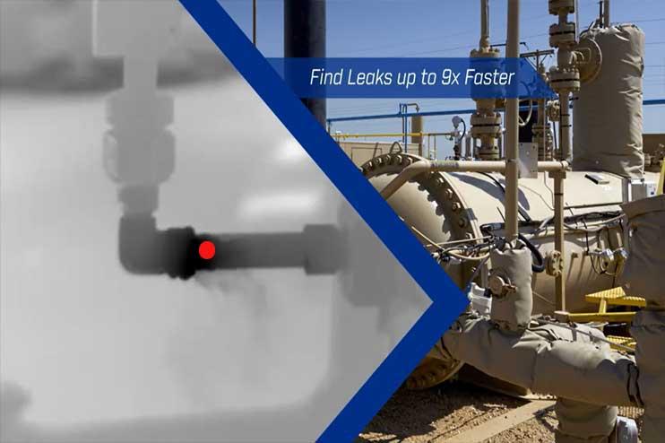 Camera dò rò rỉ khí gas  LPG, khí thiên nhiên LNG và phát hiện bằng hình ảnh quang học