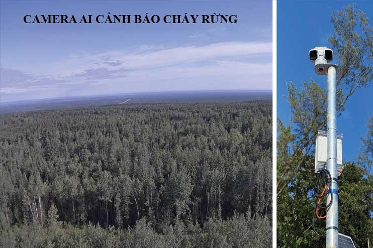Camera AI cảnh báo cháy rừng bảo vệ rừng với tầm nhìn 15km-20km