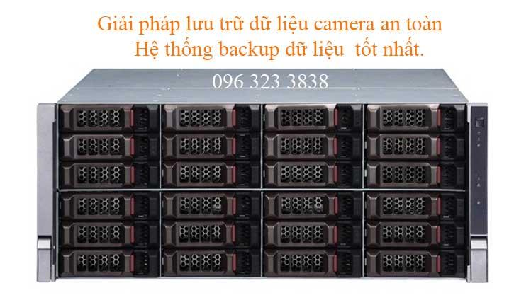 Server lưu trữ dữ liệu ghi hình camera tích hợp với server quản lý backup dữ liệu an toàn.