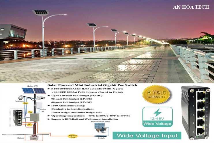 Camera năng lượng mặt trời giám sát ngoài trời, cung cấp điện solar