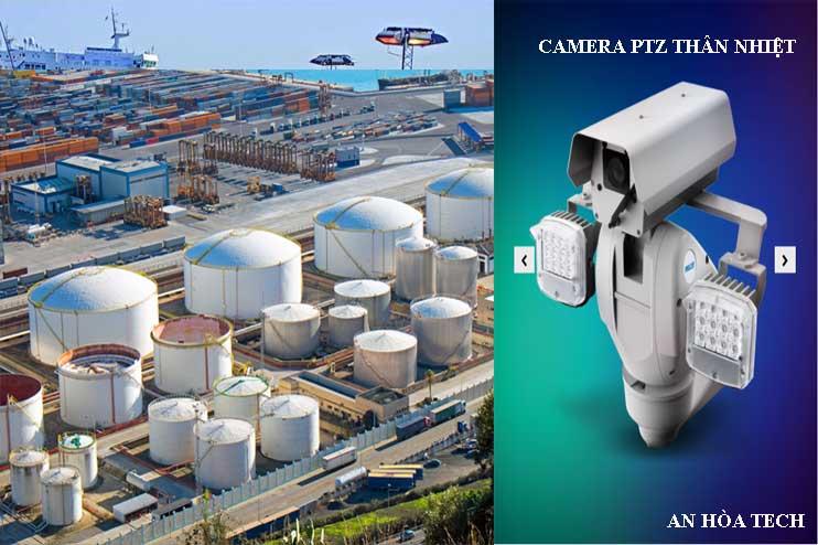 Camera IP PTZ nhiệt chống cháy nổ với tầm nhìn xa lên tới 2km gạt nước